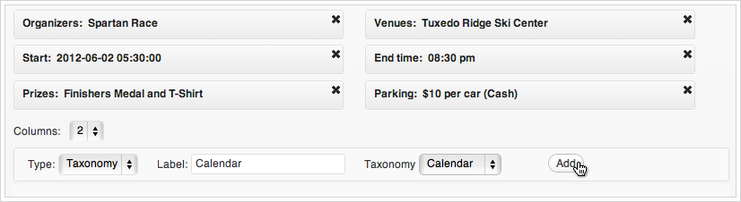 Calendarize it - Custom Fields for Events