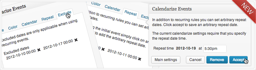 Calendarize it! for WordPress - Arbitrary Recurring Events and Recurring Events with Exceptions