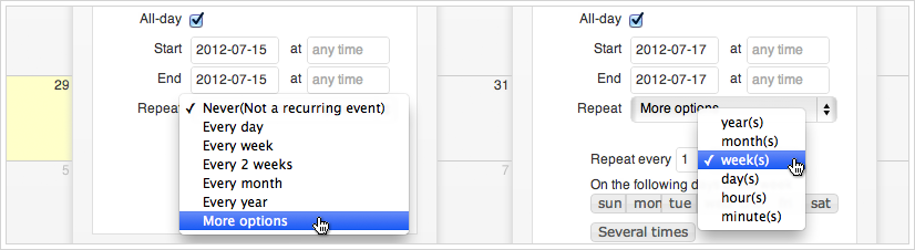 Calendarize it - Recurring Events