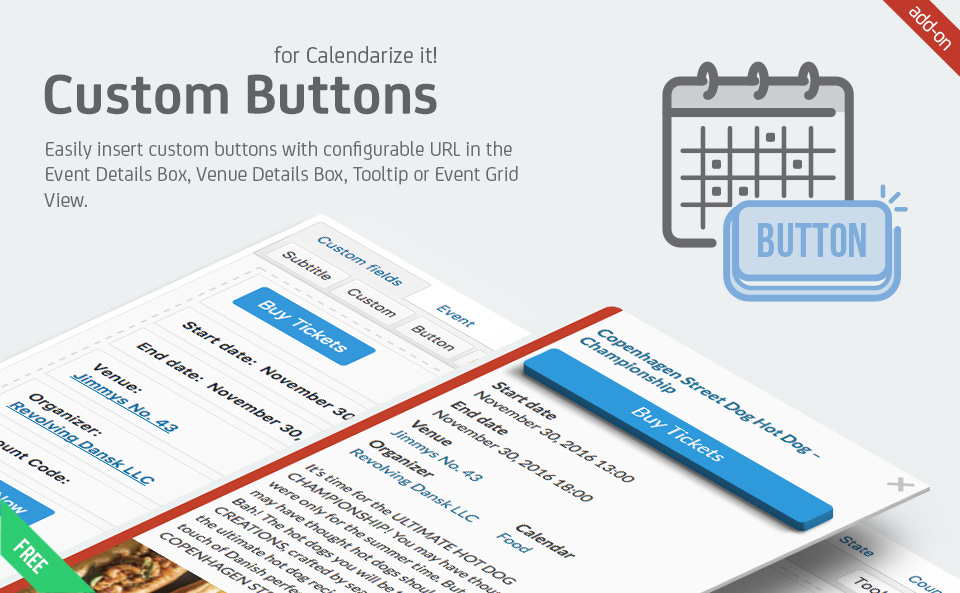 Custom Buttons add-on for Calendarize it!