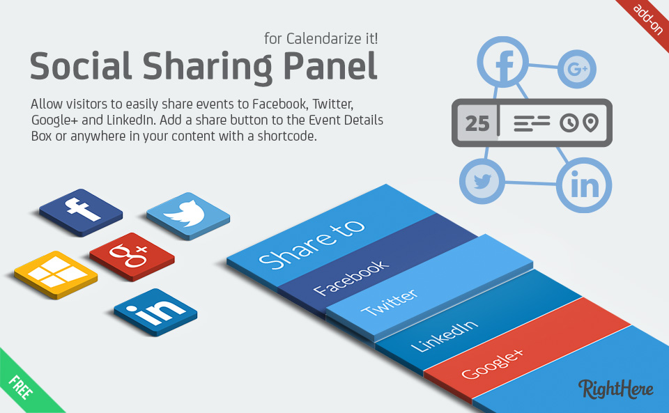 Calendarize it! Social Sharing Panel