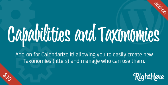 Capabilities and Taxonomies for Calendarize it!