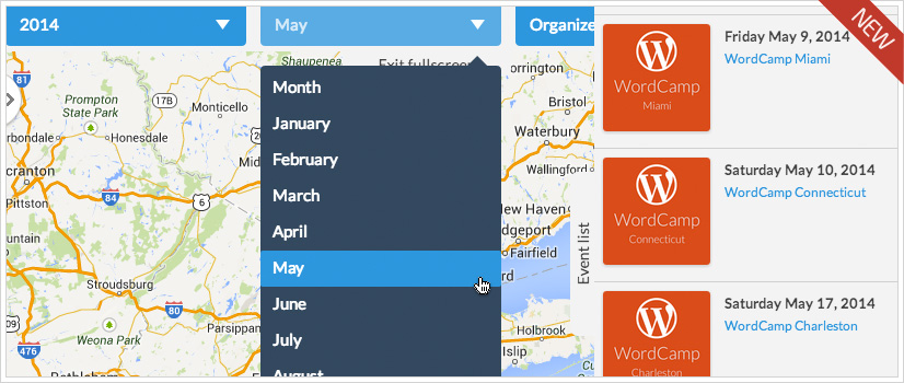 Events Map View add-on for Calendarize it! - Sidelist