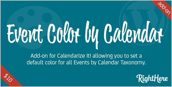 Premium Add-on Event Color by Calendar for Calendarize it!