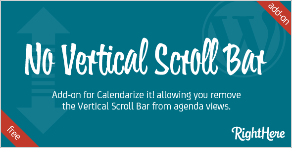 No Vertical Scroll Bar add-on for Calendarize it!
