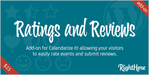 Rating and Reviews add-on for Calendarize it!