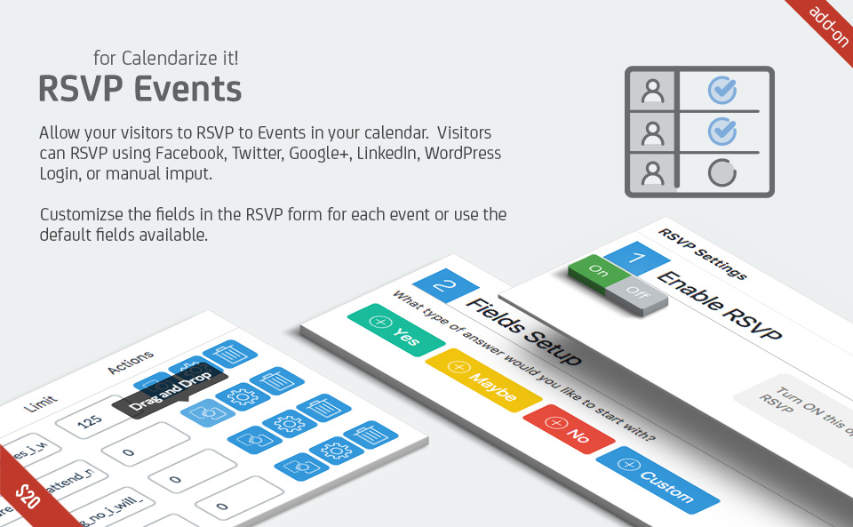 RSVP Events for Calendarize it!