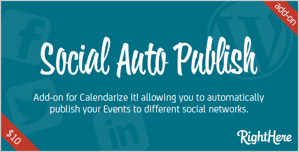Social Auto Publish add-on for Calendarize it!