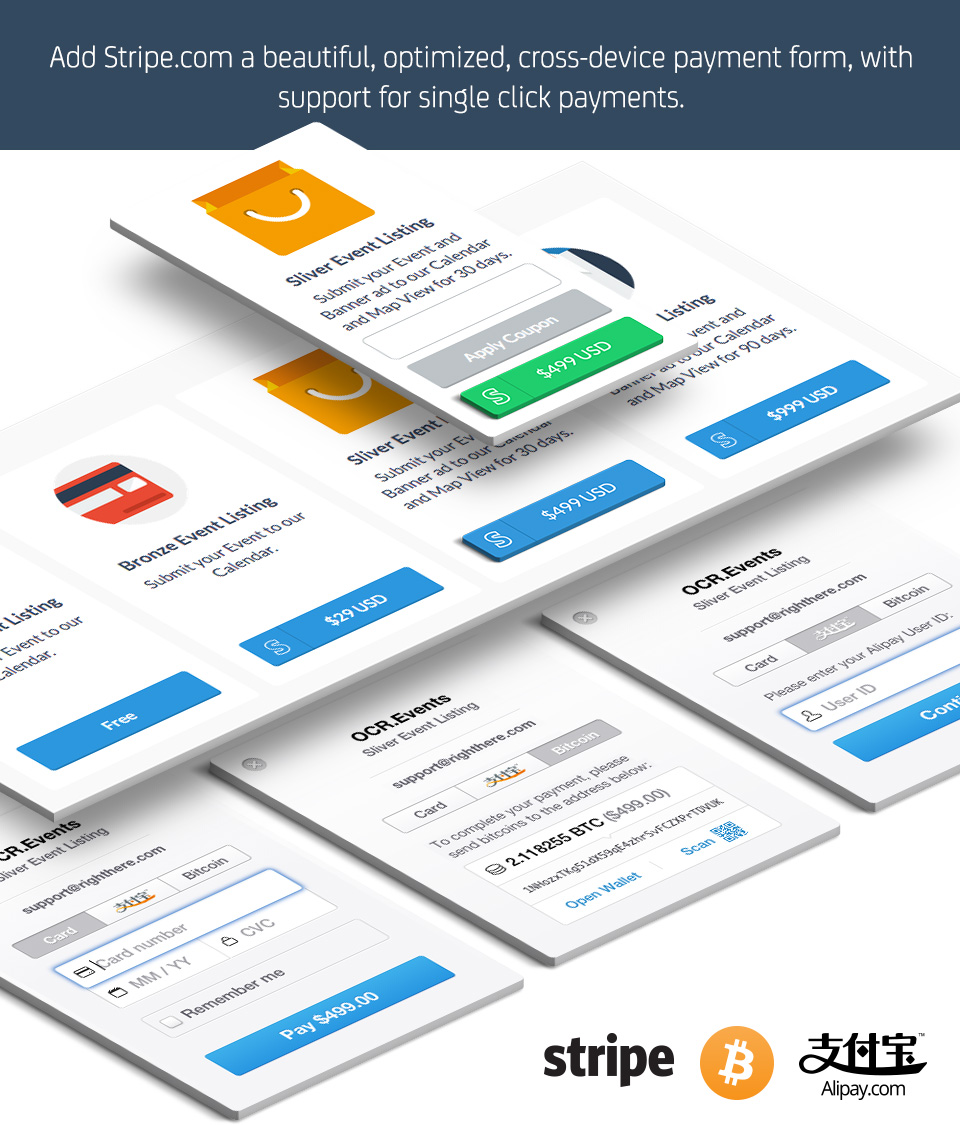 Payment Options for Calendarize it! add-on. Accept payments through Stripe.com