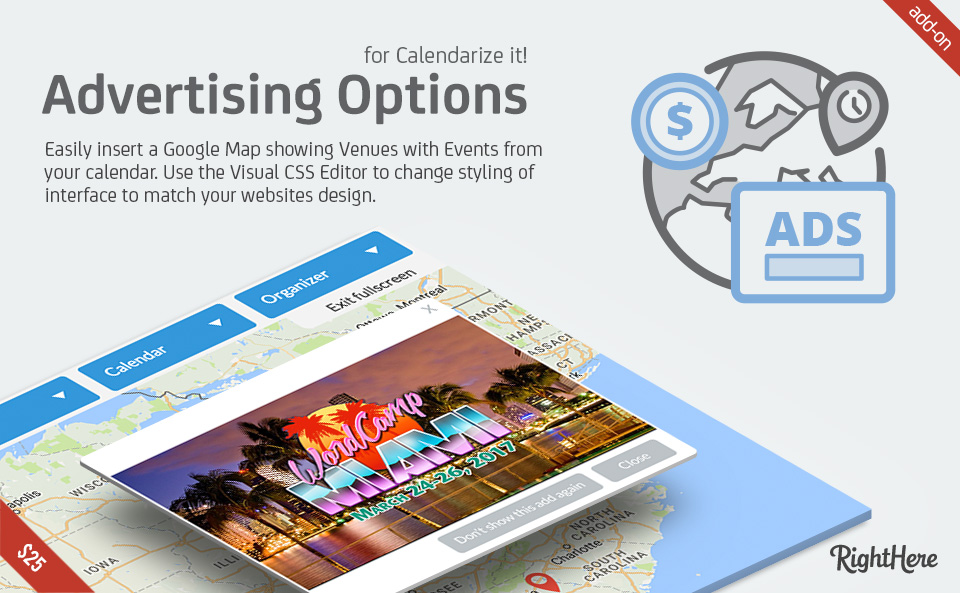 Advertising Options add-on for Calendarize it!