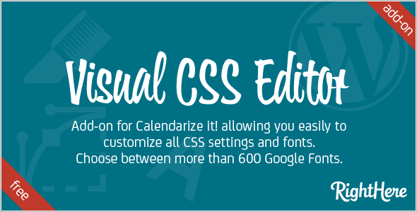 Visual CSS Editor add-on for Calendarize it!