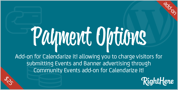 Premium Add-on Payment Options for Calendarize it!