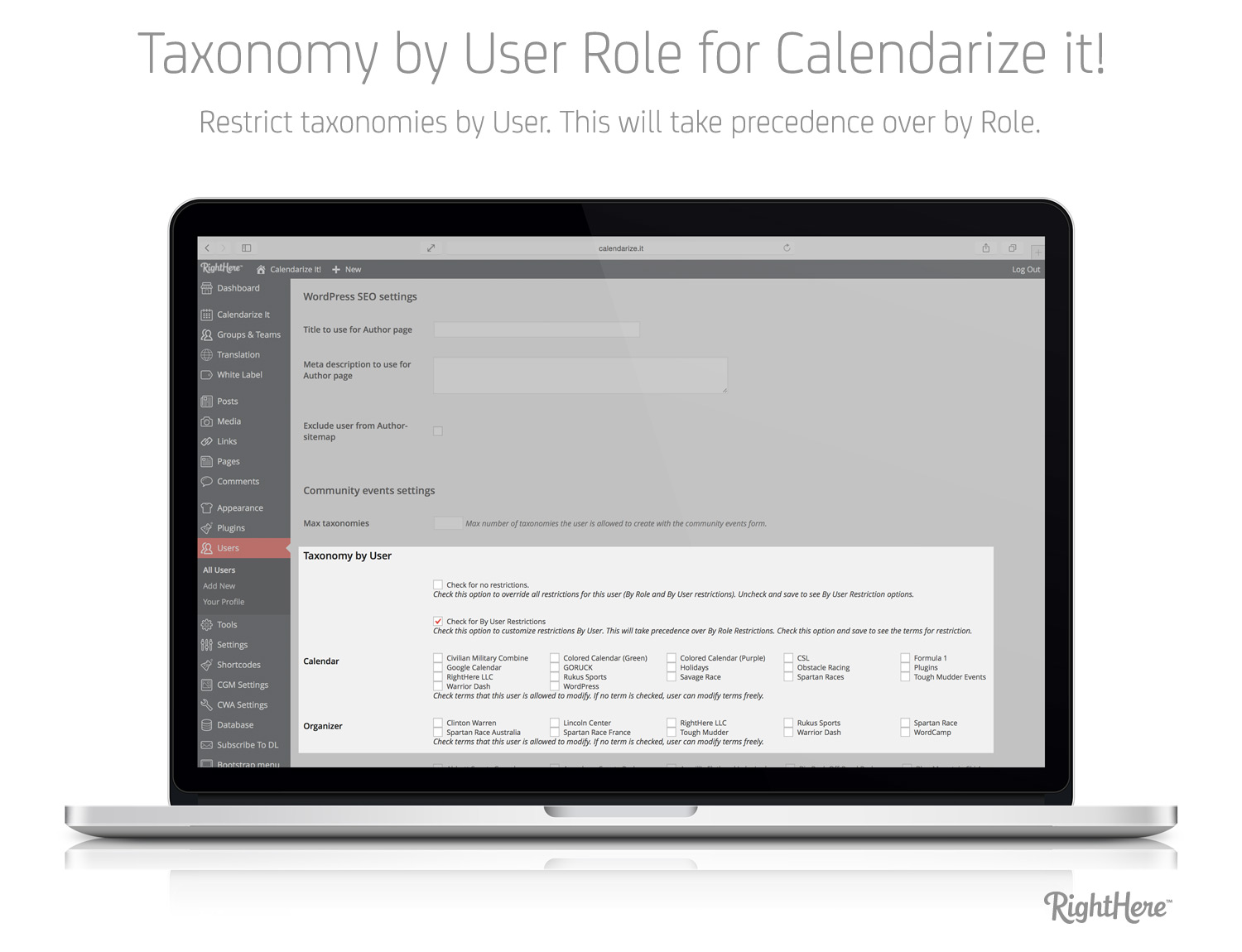 Taxonomy by User Role - Taxonomy by User Restrictions (User Profile)