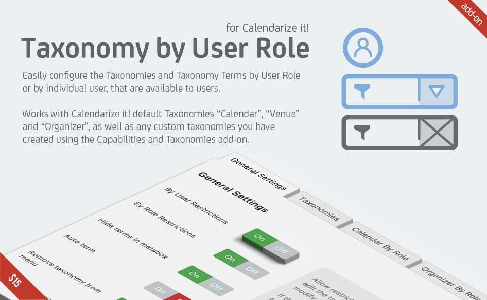 Taxonomy by User Role for Calendarize it!