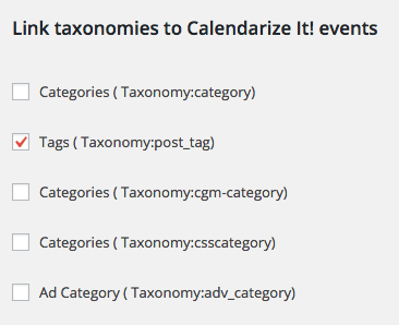 Capabilities and Taxonomies add-on for Calendarize it!