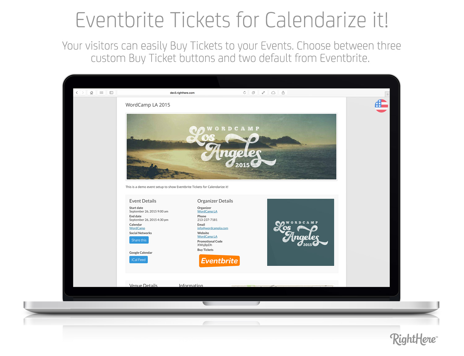 Eventbrite Tickets for Calendarize it! - Event Details Page