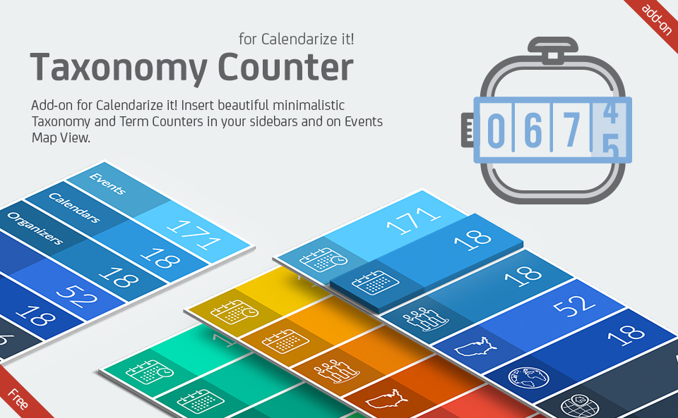Taxonomy Counter Widget for Calendarize it!