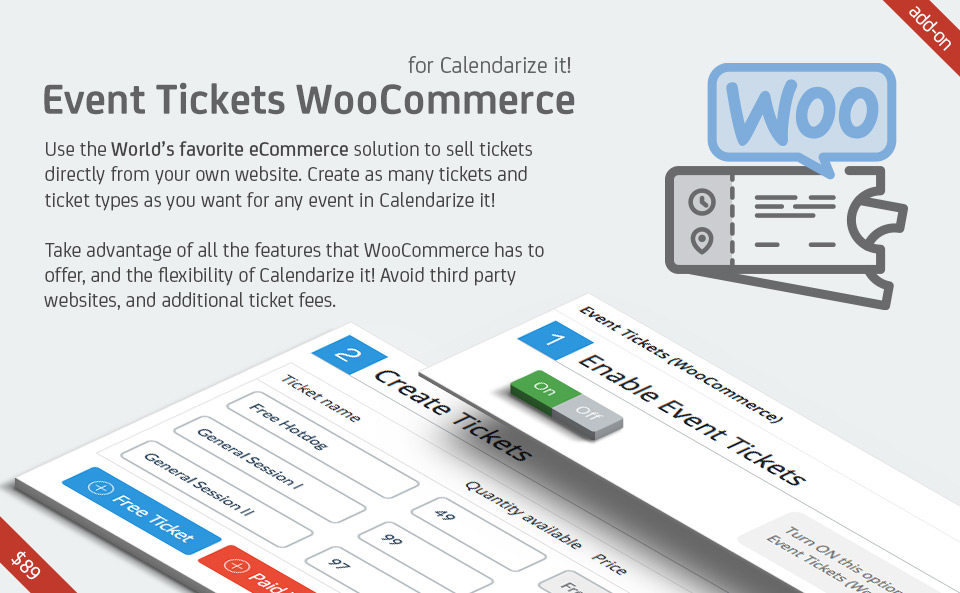 Event Tickets WooCommerce for Calendarize it! add-on