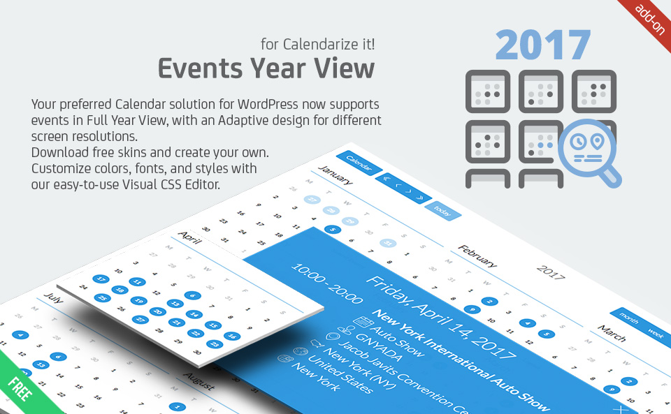 events year view for calendarize it