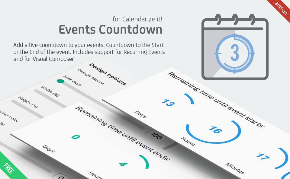 Events Countdown for Calendarize it!