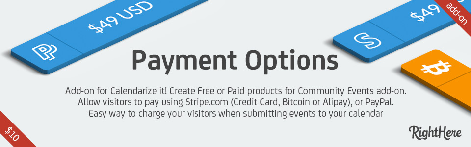 Payment Options for Calendarize it! add-on.