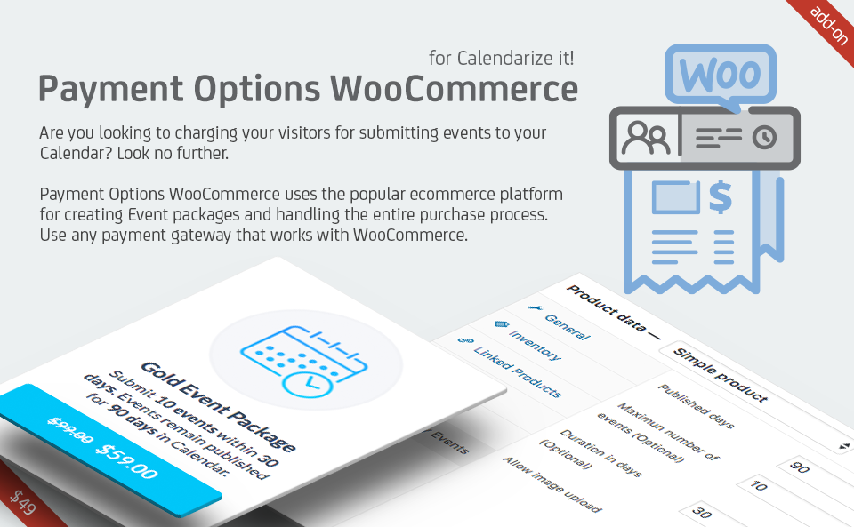 Payment Options WooCommerce for Calendarize it!
