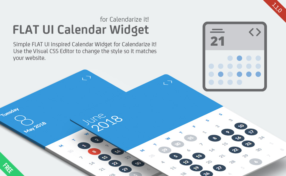 FLAT UI Calendar Widget for Calendarize it!