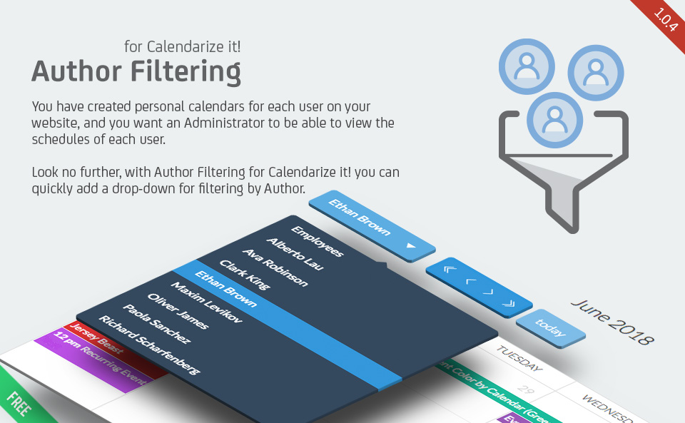 Author Filtering for Calendarize it!