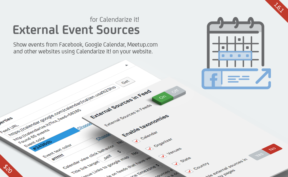 External Event Sources for Calendarize it!